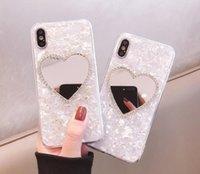 Apple Phone Case Love Girl Mirror è applicabile per iPhone 12 Pro Max 11 x XR XS Max 6 7 8 Plus