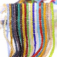 Andere Zhubi 2/3 / 4/6/8 / 10mm Charme Kristallglas Runde Lose Perlen DIY Facettierte Spacer Rondelle China Schmuck Perlen