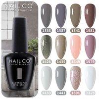Nail Gel NAILCO 15ml Grey Colors Polish Semi Permanent Varnish Hybrid Manicure UV Primer Top Coat Art
