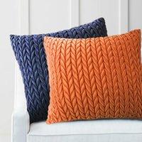 Cushion Decorative Pillow Solid Cushion Cover Decorative Imitation Silk Satin Case Cojines Braid Pleat Art Design Coussin Sofa Seat Chair
