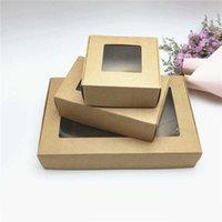 50 adet Yeni 10 Boyutlar Kraft Kağıt Uçak Hediye Kutuları El Yapımı Sabun Paketleme Kutusu Takı / Kek / El Sanatları / Şeker Kağıt Hediye Kutuları Y0712