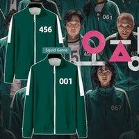 Korean Squid Game Costume Men Jacket Streetwear Harajuku Male Zipper Baseball Jackets Li Zhengjae 456 218 Cosplay Sportswear