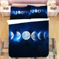 Conjuntos de cama Starry Sky Duvet Cobertura Espacial Night Tempo Universo Estrelas e Nebulos Decorativo Decorativo 2/3 conjunto com fronha