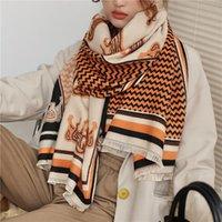 Scarves Warm Ladies Pashmina Elegant Thick Blanket Long Women Winter Shawls Wraps Bufanda Cashmere Scarf Hijab Echarpe 2021