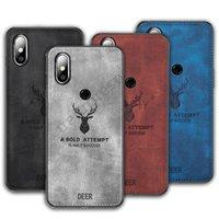 ud 견고한 천으로 딸기 전화 케이스 Xiaomi Mi 믹스 2S 최대 2 3 케이스 커버 POCO X2 M2 F2 프로 패션 천 패턴 엘크 사슴 쉘