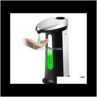 Aessories Bath Home & Garden400Ml Matic Liquid Soap Dispenser Smart Sensor Touchless Abs Electroplated Sanitizer Dispensador For Kitchen Bath