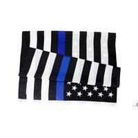 3x5FTS 90CMX150CM правоохранительные органы Сотрудники США американская полиция Тонкая синяя линия флаг Блестан США полиция Флаги полиции FWD8185