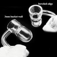 Mini Quartz Terp Slurper Banger Smoking Nail with Thick Beveled edge Domeless quartz Vacuum Nails for Glass Water Bongs