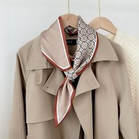Scarves 2021 Neck Tie Scarf Floral Long Skinny Women's Scraf Women Silk Hair Hand Bag Handle Scarfs For Ladies Handbag
