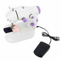 Machine à coudre Mini Électrique Ménage Diy Travail à la main Machine À Couture Double Vitesse Avec Alimentation Petit ménage
