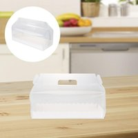 Gift Wrap 6pcs Transparent Cake Roll Packaging Box With Tray Portable Swiss Containers Dessert Holder (Long)