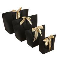 大きいサイズのギフトの包装箱包装ゴールドのハンドル紙のギフトバッグクラフトクラフトの結婚式の赤ちゃんのシャワーの誕生日パーティー党員212 V2