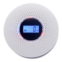 Smoke Carbon Monoxide Composite Alarm Two-in-one Durable High Power Consumption Combined Type With Display Car Air Freshener