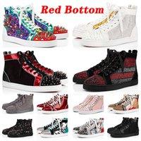 상자 포함 desinger 신발 Red Bottoms Platform Studded Spikes loafers Red Bottom Designer 럭셔리 브랜드 스니커즈 Mens Womens Trainers size us 13 Casual Shoes eur 47