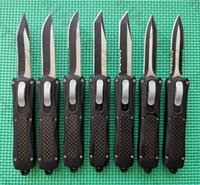 Micro A163 Dual Action out the front Automatic Knife 440C Two-tone Blade Zinc-Aluminum + Carbon Fiber handle EDC Tactical Mini Auto Pocket Small Knives Cncostco