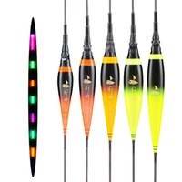 Shallow Water Fishing Floats Composite Nano Electric Buoy Gradual Color Change Luminous Fresh Bobber Tools Accessories