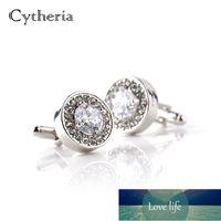 Роскошные запонки для мужчин и женщин Zircon белый фиолетовый кристалл Crystal Clear Mance кнопка высокого качества аксессуаров подарок для жениха свадебный завод цена экспертов качества