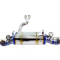 High Quality Titanium Alloy Exhausts With Cat Pipe For Nissan GTR 3.8T 2010-Present Cat-Back System Exhaust Muffler Tip