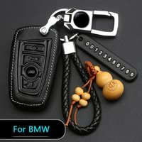 Metal keychain Key Case For Bmw1 3 5series 320li 525li X1X3X5X6 Leather Cover Sets With Key Rings Auto parts protective covers