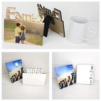 Moldura de foto DIY 155 * 140mm molduras em branco de madeira retrato Família de fase de transferência térmica placa decoração home zze5126