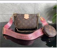 "LV ""لويس"" Vitton Vutton متعددة Pochette Accessoires مصمم حقائب الكتف النساء الفاخرة حقائب اليد الجلدية crossbody المحافظ سيدة حمل مع محفظة محفظة عملة"