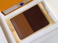 NEO Porte-cartes Toile recouverte de toile M60166 Designer Mode Mens Portefeuille 4 6 Pièce de monnaie Poche Organisateur Poche Pochette Cle Double avec sac à poussière et