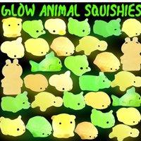 Squishy Buns Brinquedos Lento Rising Animals Kid Toys Brinquedos Brinquedos Luzes Luminosos LED Mini Flashing TPR Decompression Toy Toy H3132KP
