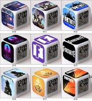 LED Fortnite despertador jogadores de tiro competitivos colorido brilhante relógio eletrônico HWF9953