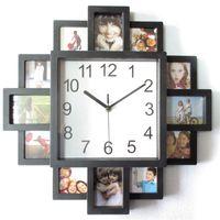 Cadre photo Horloge murale Nouveau bricolage moderne Desigh Art Picture Clock Horloge Séjour Décor Horloge-Abux1 2179 V2