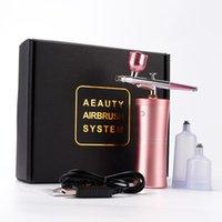 Rechargeable Airbrush Compressor Kit Air Brush Sprayer Gun Water Oxygen Deep Hydrofacial Machine For Nail Art Tattoo Cake Makeup