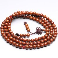 Beaded, Strands 6mm 8mm 10mm Buddhist 108 Star Moon Bodhi Seeds Rosary Old Red Lotus Prayer Mala Necklaces BRO929