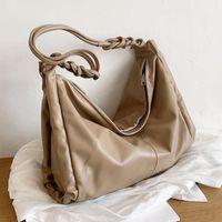 Cross Body High Capacity Big PU Leather Crossbody Shoulder Bag For Women 2021 Trendy Luxury Designer Simple Shopping Handbags
