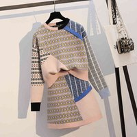 Two Piece Dress Female shirt plus size 2 pieces, Korean ensemble with sweet pullover+ miniskirt short mesh two pieces F5N7