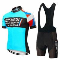 Erkekler EUSKADI Takım Bisiklet Forması Seti MTB Bisiklet Giysileri Ropa Ciclismo Yaz Yol Bisiklet Kıyafetler Hızlı Kuru Kısa Maillot Culotte 32289