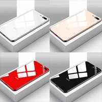 Luxury Mirror Tempered Glass Phone Case For 11Pro MAX SE 2002 XS XR 6 7 8 Plus Plating Glossy Protection Cover