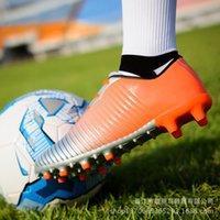 Spikes New Children's Youth Antiskid Men's Sapatos de Futebol e Mulheres TCVH
