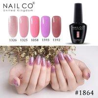 Nail Gel NAILCO Pink Color High Quality LED Soak Off UV Varnish Polish Art Laquer Long Lasting Hybrid