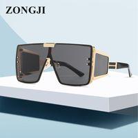 نظارات شمسية Zongji بدون شفة الرجال والنساء تصميم النظارات ساحة الأزياء شخصية إطار معدني UV400