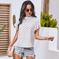 White Sweet Summer Polka Dot Print Women Elegant T Shirts Short Sleeve Casual Ladies Chic Tops Tees 2021 Women's T-Shirt