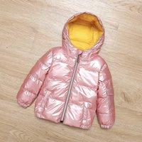 ملابس الطفل الملابس الشتوية للفتيات صبي الاطفال سترة طفل فتاة الشتاء ملابس الأولاد معاطف الدافئة أسفل سترة فقاعة معطف الطفل P0830