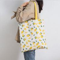 Women Shopping Bag Double-sided Dual-purpose Handbag Cotton Linen Tote Grocery Storage Bags 15 Designs Optional BT1153