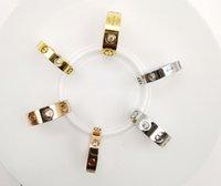 Joyería de moda 4mm 6mm amor anillo Diamond Rose Gold Designers Anillos para boda o regalo con estuche