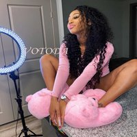 Kadınlar Ev Teddy Bear Terlik Kış Karikatür Peluş Ev Terlik Sıcak Komik Kapalı Ayakkabı Kadın Hayvan Kürklü Faux Kürk Slaytlar Q0523