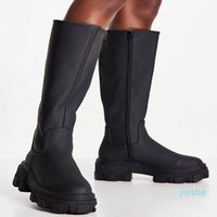 fashion-Boots Lady Women's Rubber Shoes Rain Sexy Thigh High Heels Round Toe Luxury Designer Zipper Boots-Women Over-the-Knee