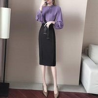 Work Dresses Professional Suit Skirt Female 2021 Spring And Summer Playful Fashion Two-piece Sexy Slim