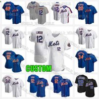16 8 Dwight Gooden Francisco Lindor Mets 9 Brandon Nimmo Nouveau Pete Alonso Custom Marcus Stroman York Flex Base Cool Base Baseball Jersey