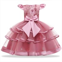 Lace Princess Girl For 2 Dress 10 Years Birthday Party Clothing Kid Wedding Tutu Flower Dresses Prom Communion Custome