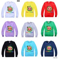 Fashion Kids Cocomelon T-shirt Cartoon Design Boys Girls Round Neck Sweater Children Spring Summer Cany Color Hoodie Toddler Baby Pullover G