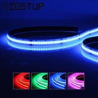 Strips Cob RGB LED Light Strip 840 LED 15W per metro Flessibile FOB 10MM 4 PIN Wire Tape Lights ad alta densità RA90 lineare dimmerabile 24V