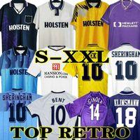 Klinsmann 08 09 Retro Jersey Jersey Vintage Gascoigne Anderton Sheringham 1990 1998 1991 1982 Tottenham Ginola Ferdinand 92 94 95 Uniformes Centenários Clássicos